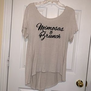 Mimosas & Brunch Plus Size Graphic Tee